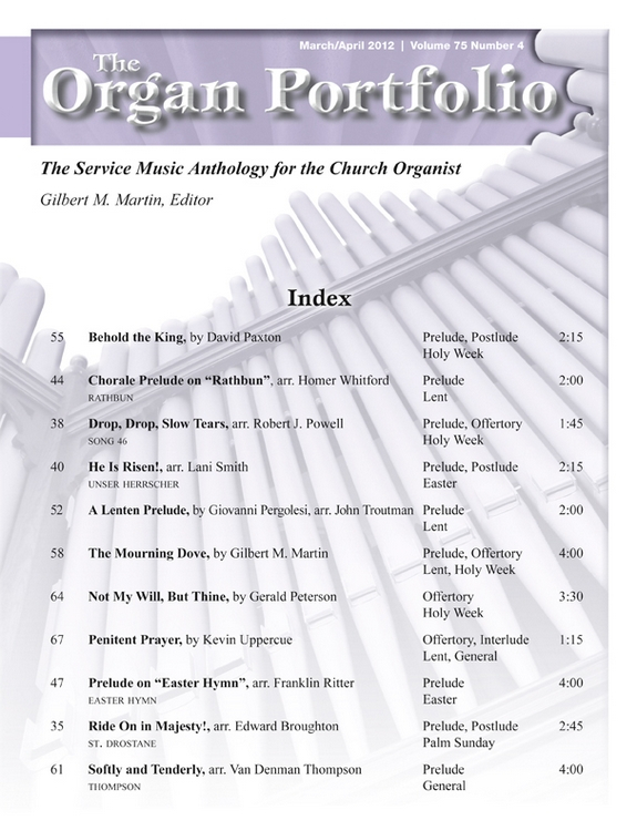 Organ Portfolio Mar/Apr 2012