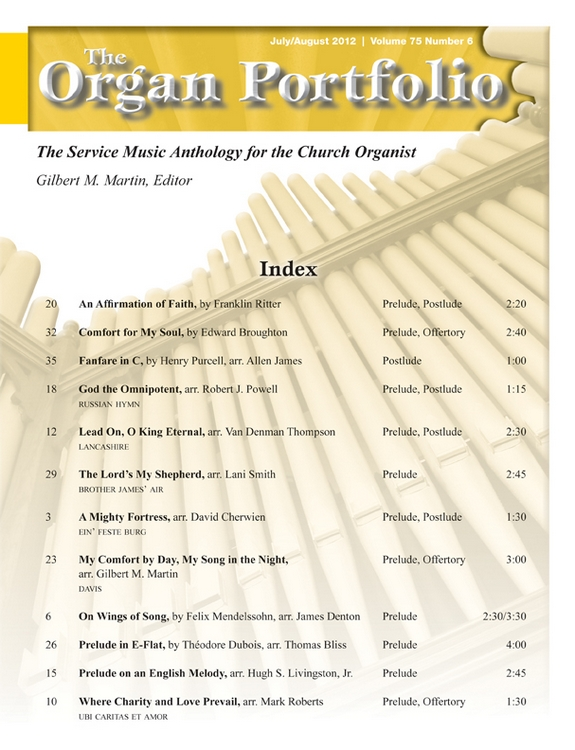 Organ Portfolio Jul/Aug 2012