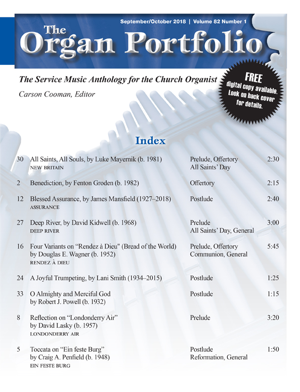 Organ Portfolio Sept/Oct 2018