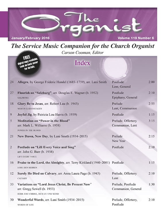 The Organist Jan/Feb 2016 - Digital Delivery
