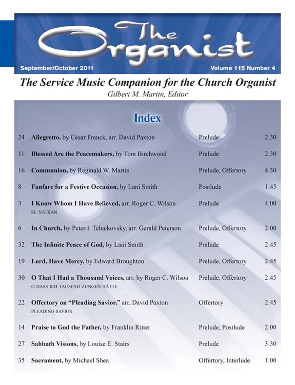 The Organist Sept/Oct 2011