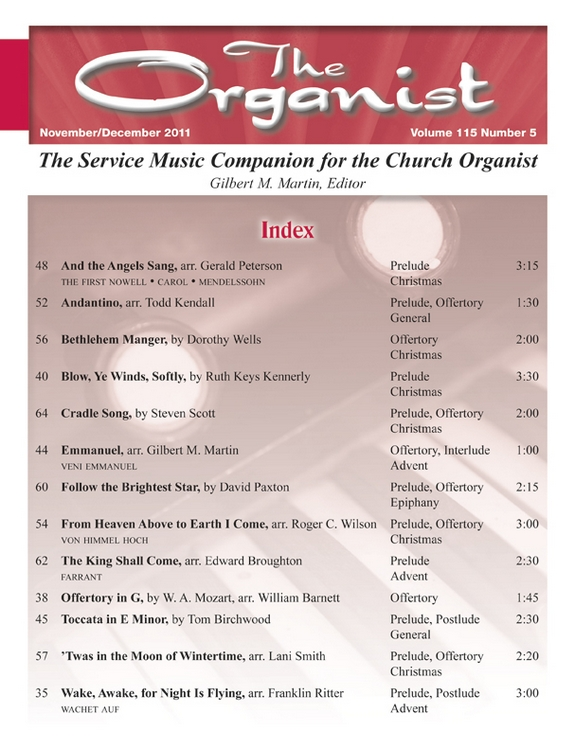 The Organist Nov/Dec 2011