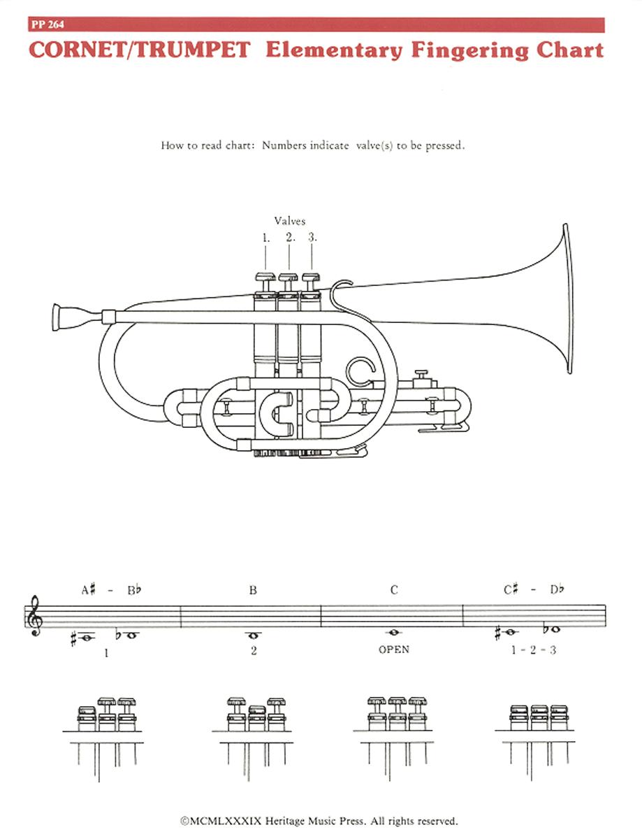 Elementary Fingering Chart - Cornet/Trumpet