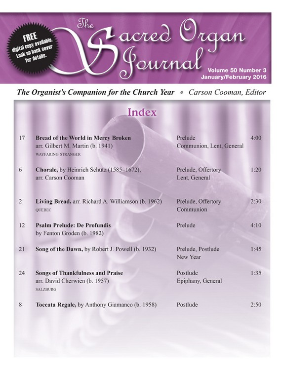 Sacred Organ Journal Jan/Feb 2016 - Digital Delivery