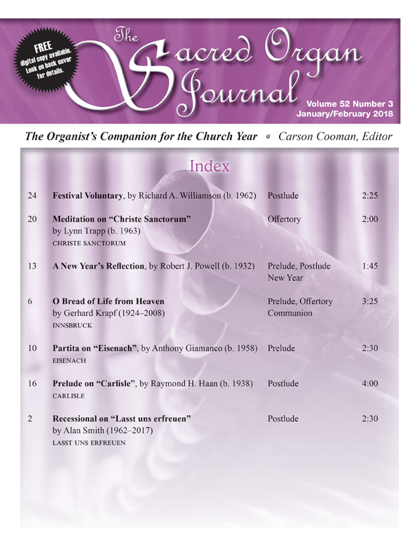Sacred Organ Journal Jan/Feb 2018 - Digital Delivery