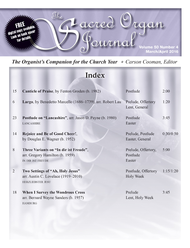 Sacred Organ Journal Mar/Apr 2016