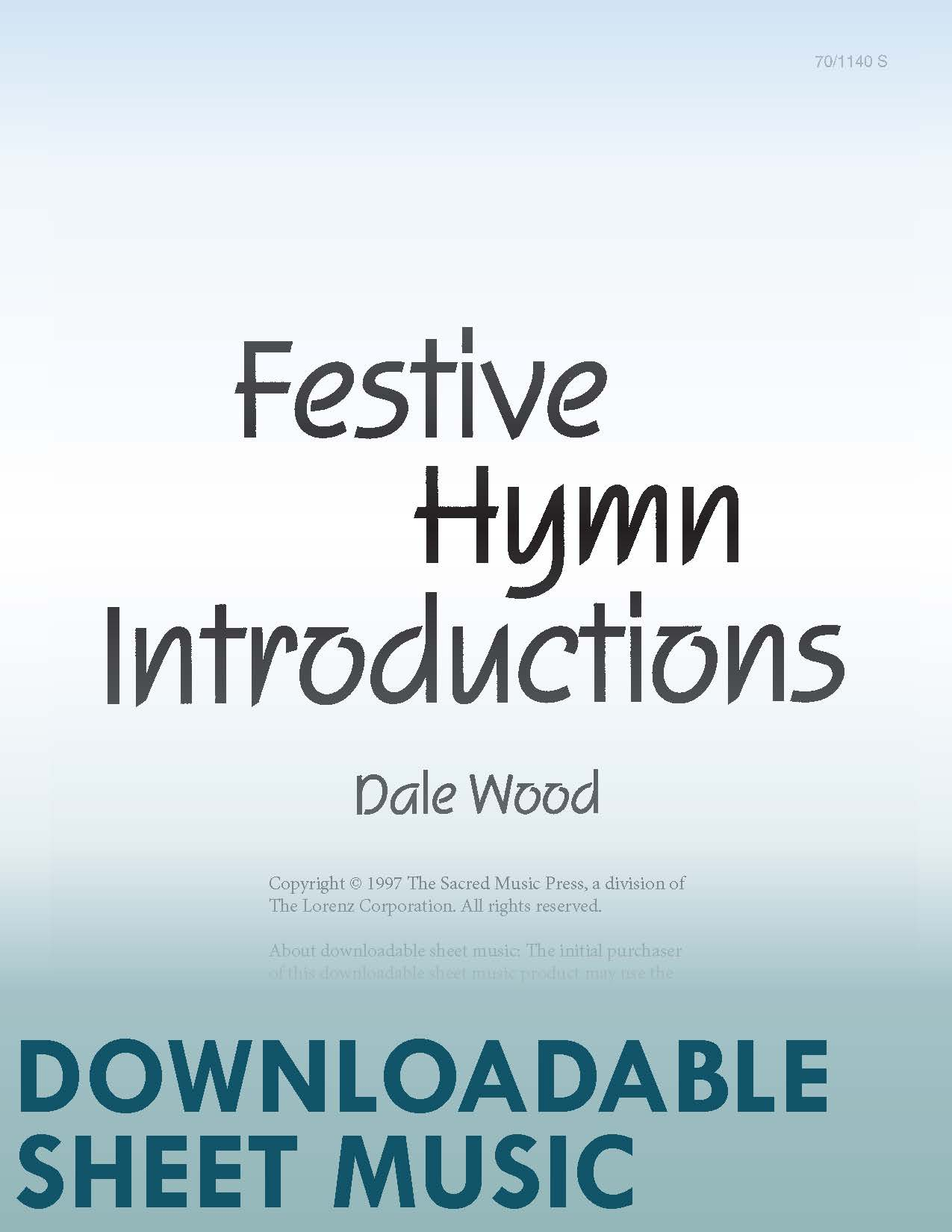 Festive Hymn Introductions for Organ - Digital Download