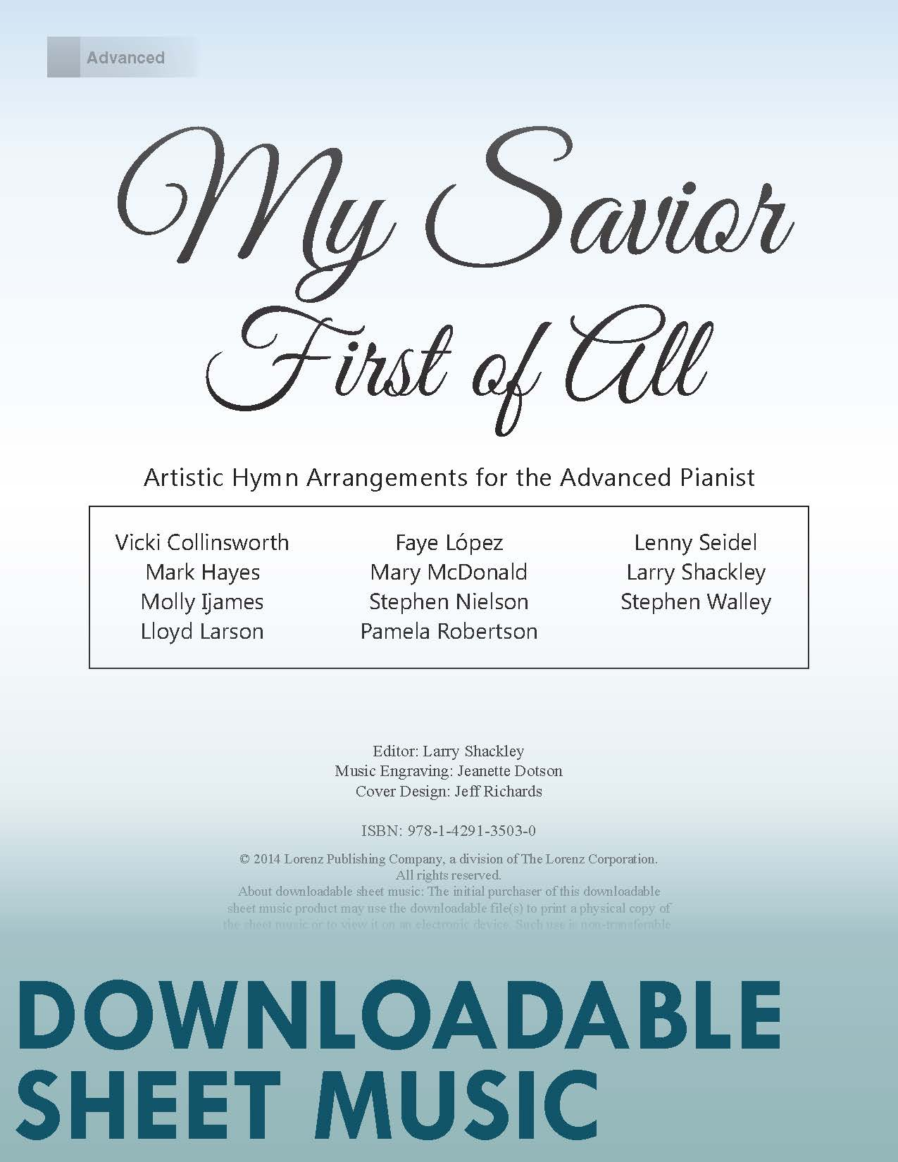 My Savior First of All - Digital Download