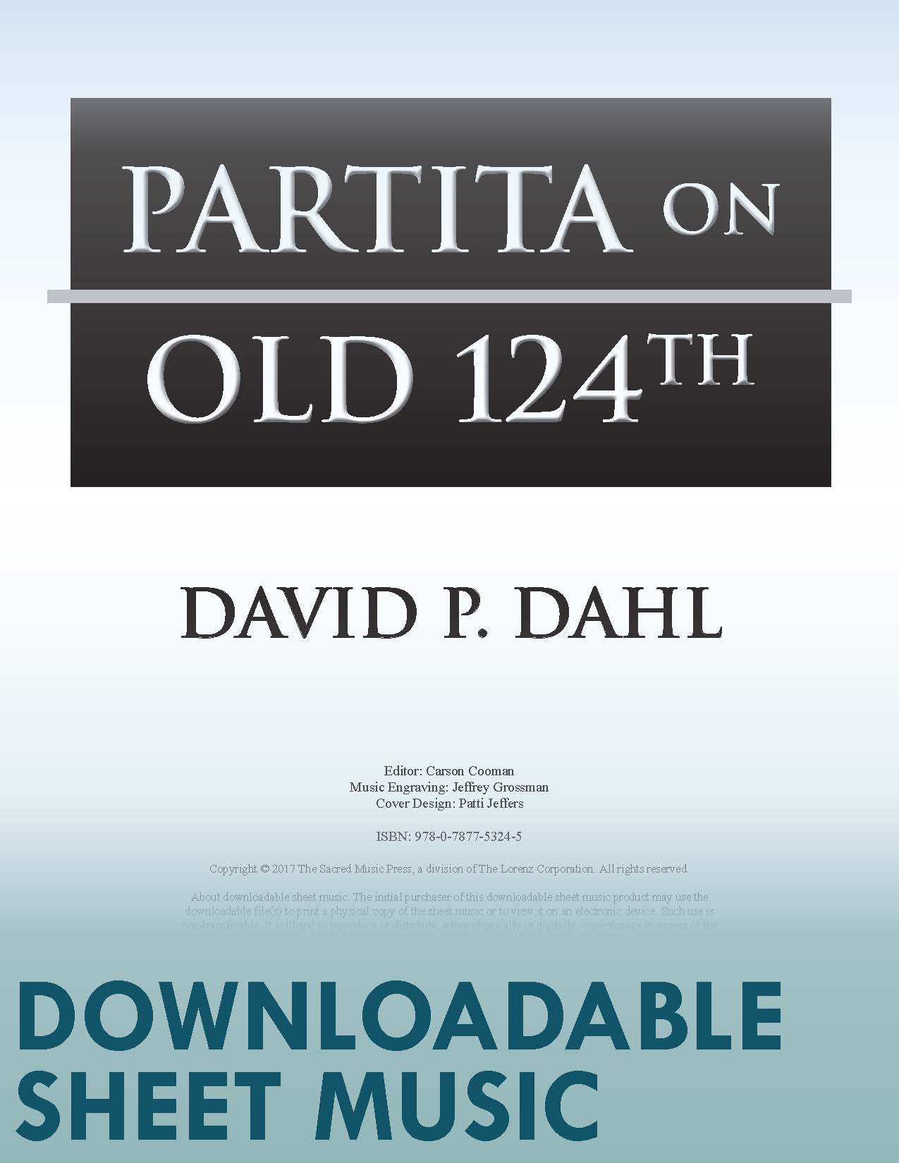 "Partita on ""Old 124th"" - Digital Download"