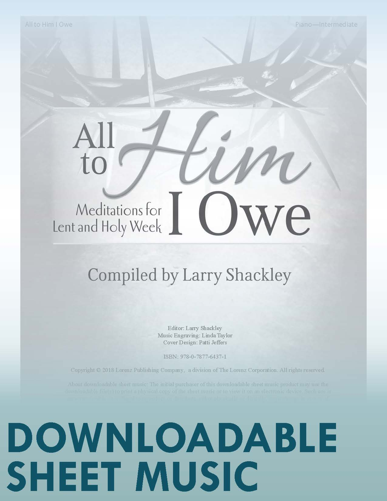 All to Him I Owe - Digital Download