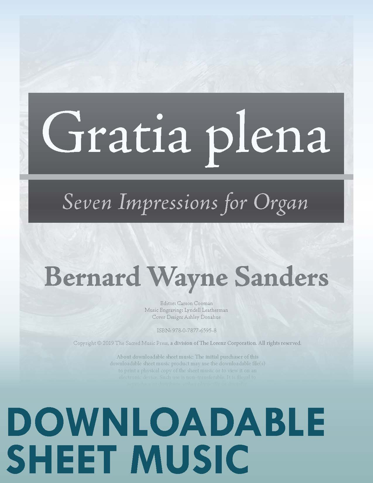Gratia plena - Digital Download
