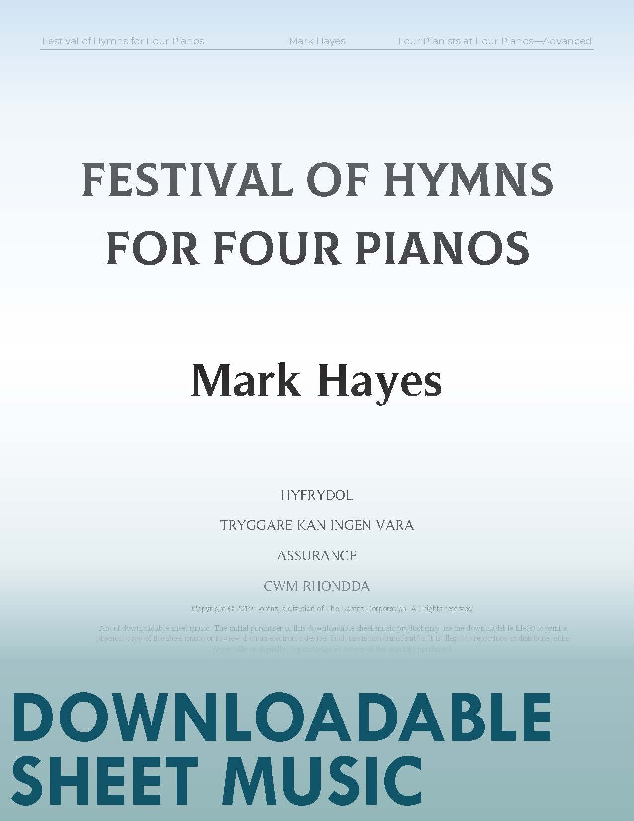 Festival of Hymns for Four Pianos -Digital Download