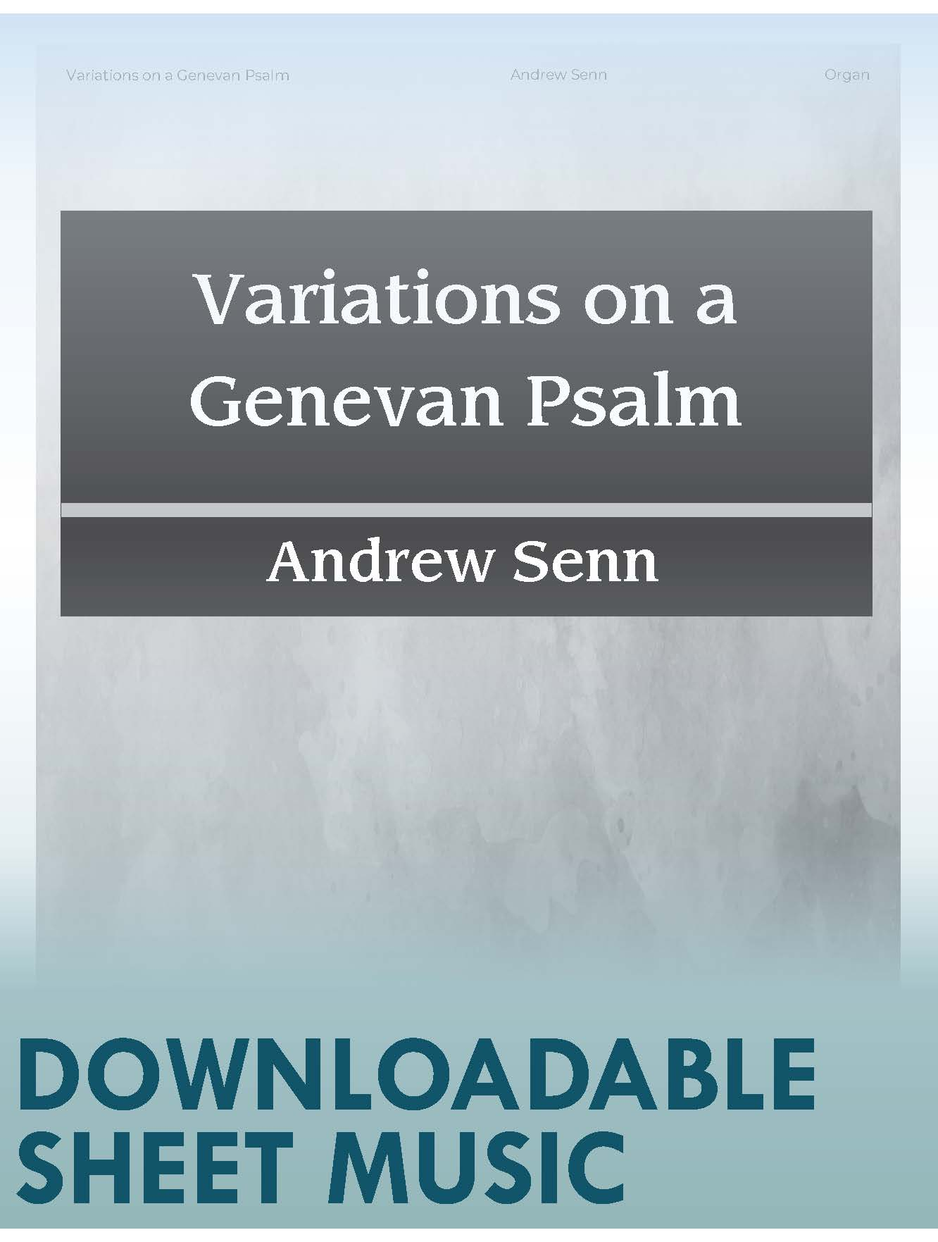 Variations on a Genevan Psalm - Digital Download