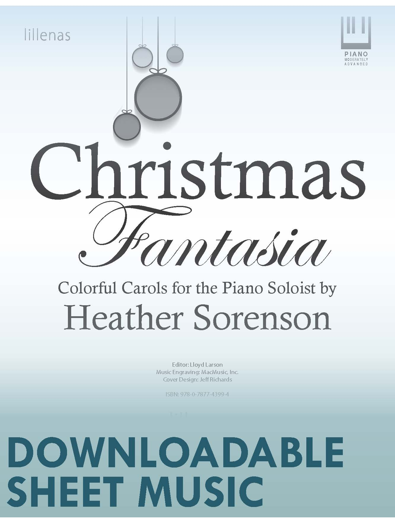 Christmas Music Downloadable.Christmas Fantasia Digital Download