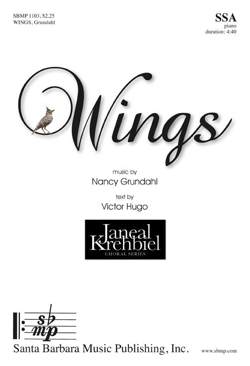 Wings : SSA : Nancy Grundahl : Nancy Grundahl : Sheet Music : SBMP1103 : 608938358981