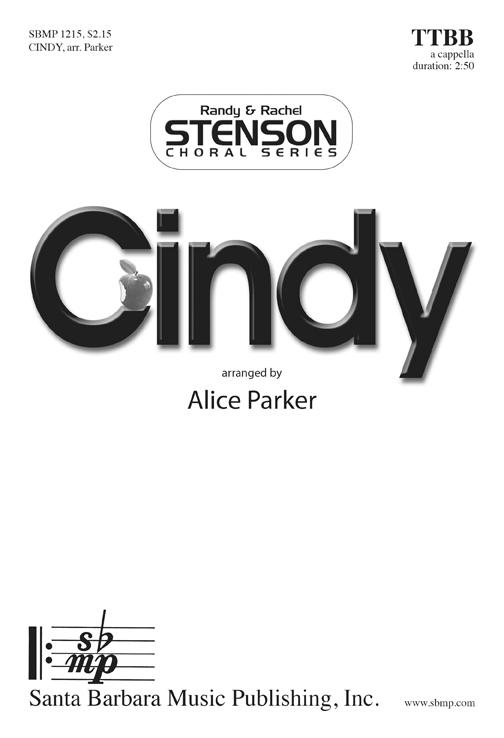Cindy : TTBB : Alice Parker : Sheet Music : SBMP1215 : 608938359933