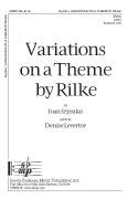 Variations on a Theme by Rilke : SSAA : Joan Szymko : Joan Szymko : Sheet Music : SBMP294 : 964807002943