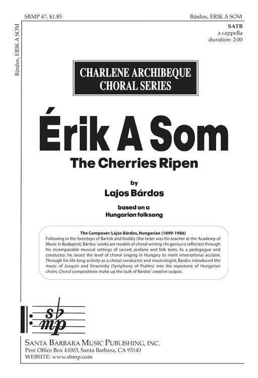 Erik A Som (The Cherries Ripen) : SATB : 0 : Sheet Music : SBMP47