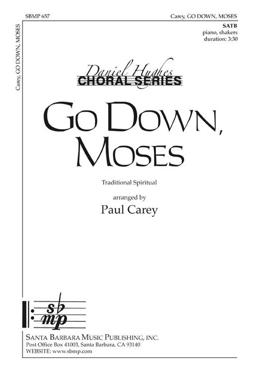 Go Down Moses : SATB : Paul Carey : Paul Carey : DVD : SBMP657 : 964807006576