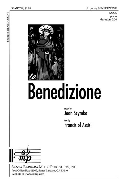 Benedizione : SSAA : Joan Szymko : Joan Szymko : Sheet Music : SBMP799 : 964807007993