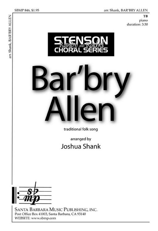 Barbara Allen : TB : Joshua Shank : Joshua Shank : Sheet Music : SBMP846 : 964807008464